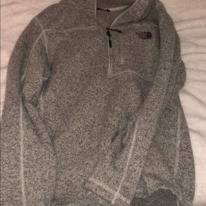 Men's 1/4 zip fleece North Face pullover